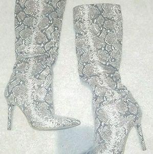 Jessica Simpson snake skin boots